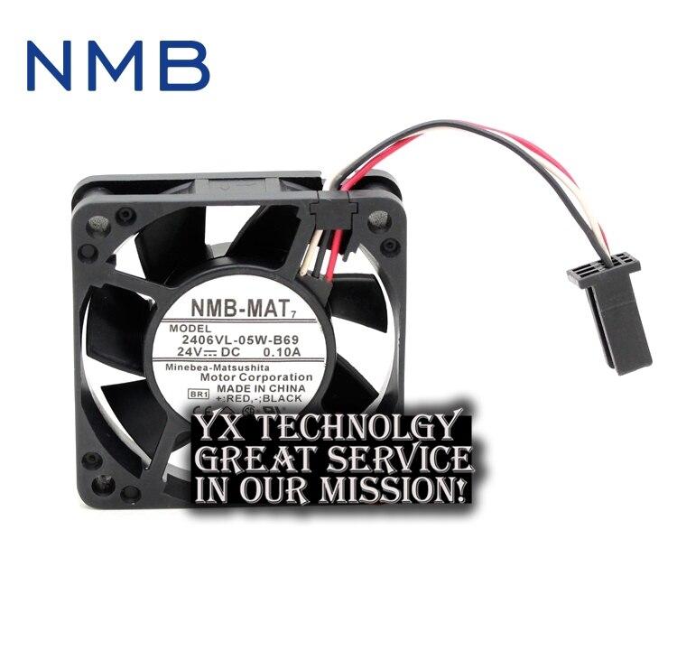 New 2406VL-05W-B69 24V 0.10A 6015 waterproof fan for NMB 60*60*15 original new aub0624hb 6cm 6015 24v 0 09a fan drive for delta 60 60 15mm