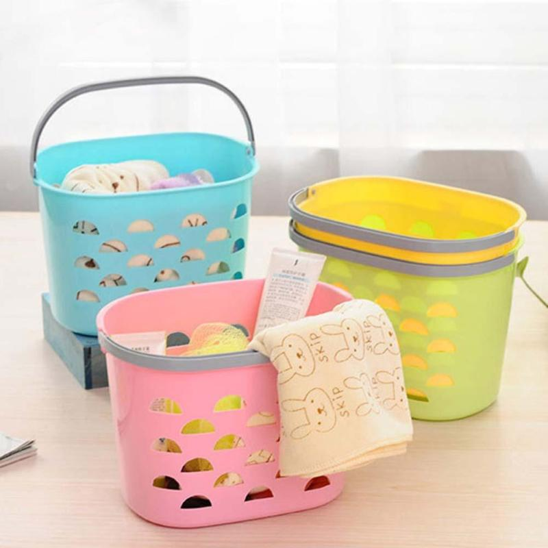 New Plastic Laundry Basket Dirty Clothes Storage Basket Toys Bath Supplies  Container Home Washing Storage Bag