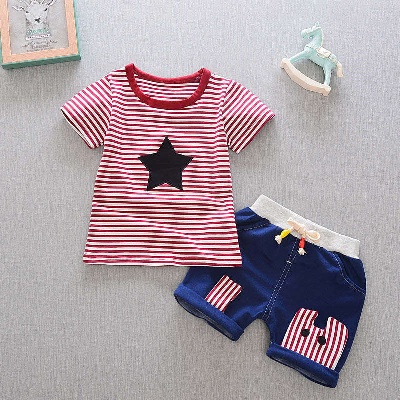 HTB14NxLbBCw3KVjSZFlq6AJkFXaW - Baby Boys Clothing Set Summer Tops Shorts Cotton Children Kids Sport Suit 1st Birthday Costume Toddler Boys Formal Clothes Sets