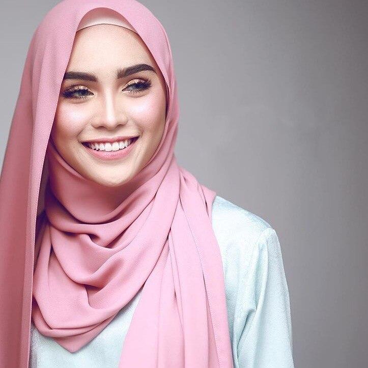 10 teile/los Großhandel Chiffon Schal Schals Zwei Gesicht Hijab muslim schals/schal 47 farben 180*75cm-in Damenschals aus Kleidungaccessoires bei AliExpress - 11.11_Doppel-11Tag der Singles 1