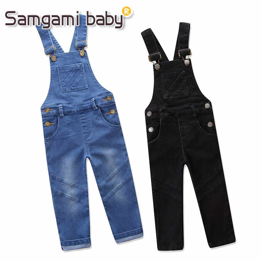 4066560439af SAMGAMI BABY Girls Summer Clothes Boy Girl Suspender Trousers Fashion  Cowboy Overalls Jeans Pure Color Pants