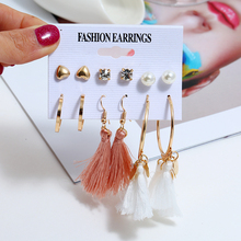 Bohopan Long Tassel Design Fashion Earrings Set For Women Simple Elegant Pearl Stud 2019 Female Jewelry Accessories