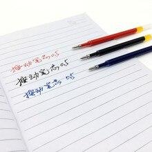 Выдвижной ручки Гелевые Вкладыши 50 шт. цвет: черный, синий с красными чернилами пуля наконечник 0,5 мм жидкость-чернила G5 заправки для весны нажмите ручки 11 см