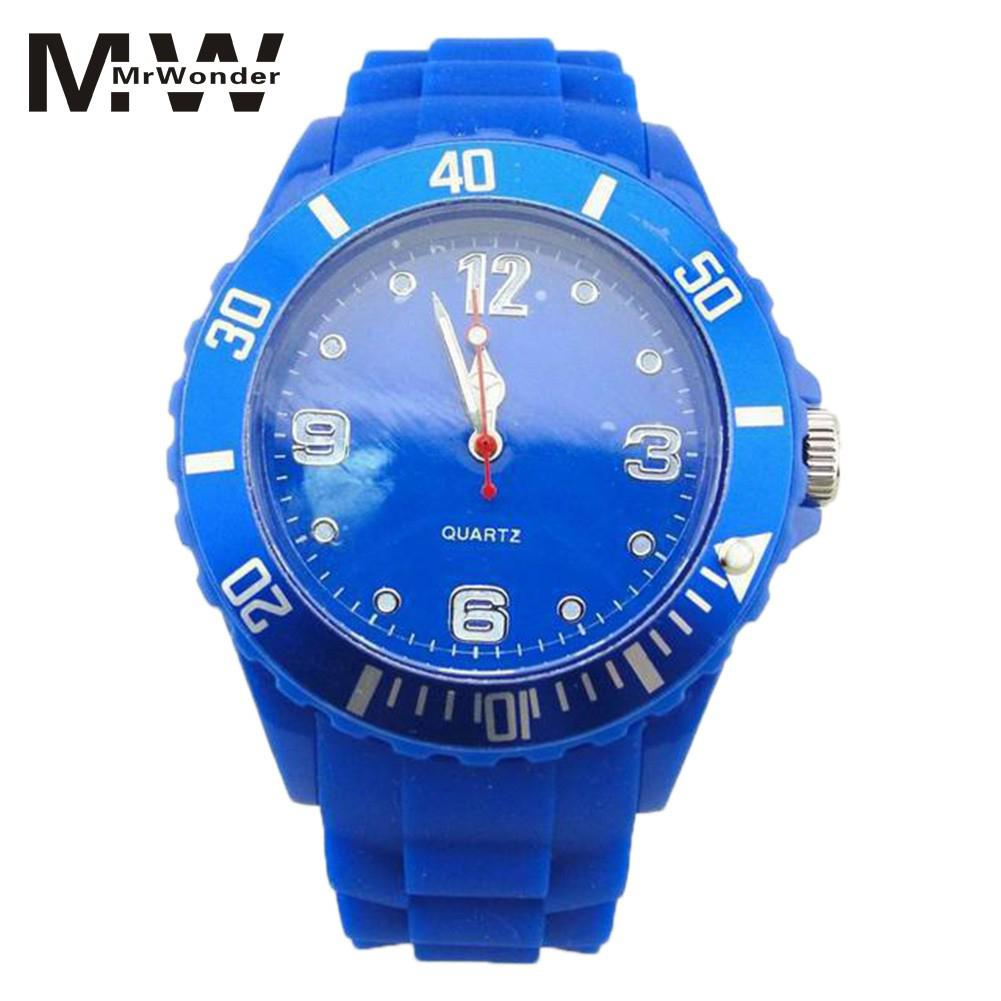 Mrwonder Kids Boy's Blue Silicone Watches 2018 Fashion Students Colourful Sports Quartz Gift Children's Dial Wristwatches SAN0