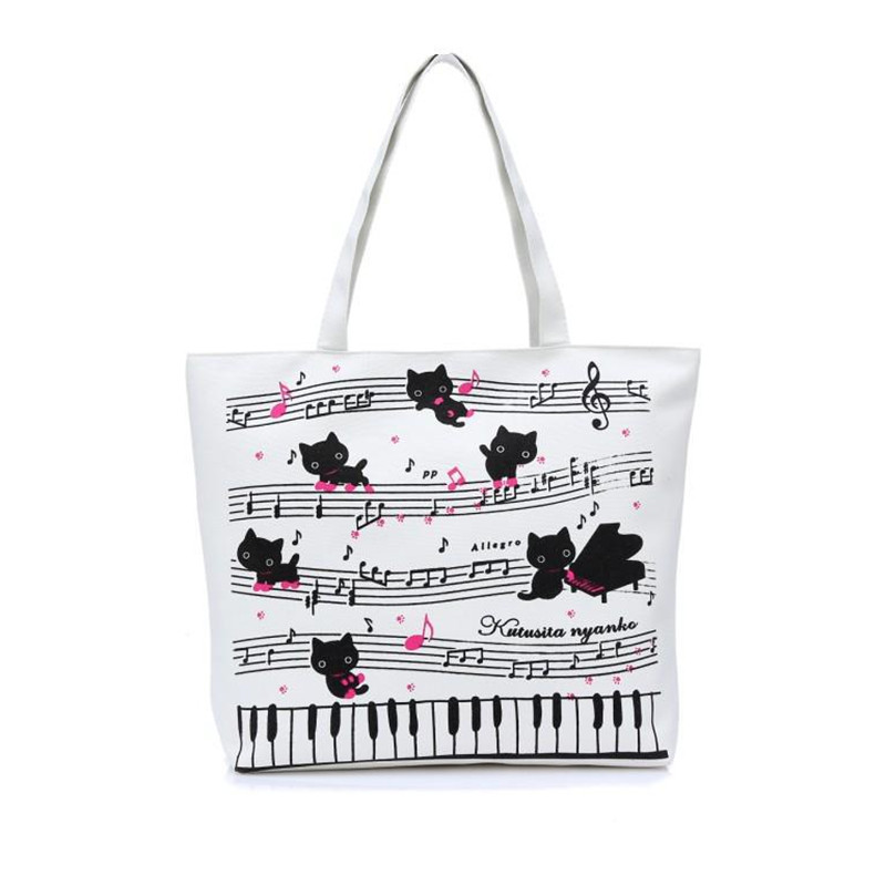 Cat Print Ladies Tote Bag