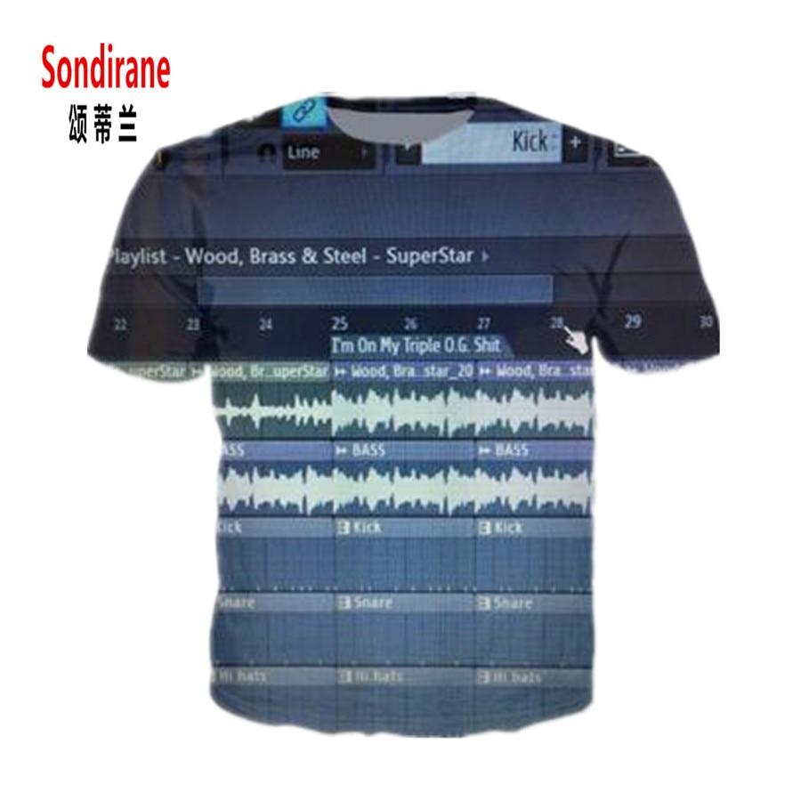 Sondirane Mens FL Studio Massive T-Shirt Xfer Serum All-Over 3D Print Casual T Shirt Women Summer Ableton Live Samples Tees Tops