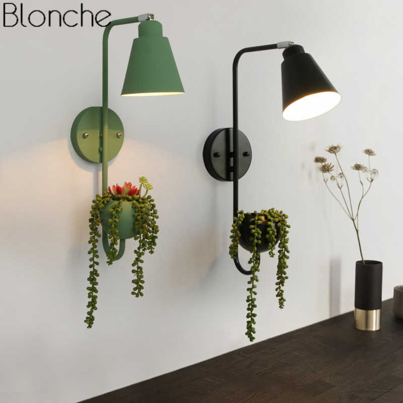 Nordic Plant Diy Wall Lamp Modern Led Wall Light Fixtures Dining Room Bedroom Bedside Lamp Home Decor Sconce Lighting Luminaire Led Indoor Wall Lamps Aliexpress