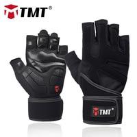 TMT спортивные Фитнес Вес подъема спортивные перчатки для тренировок фитнес, бодибилдинг, Тренировка Наручные Обёрточная бумага спортивные ...