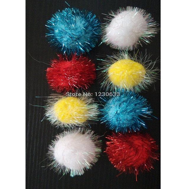 Westrice 4cm Shiny Beads In Various Colors Shipped Randomly Cat Toys and Dog Toys Pet Toy Ball