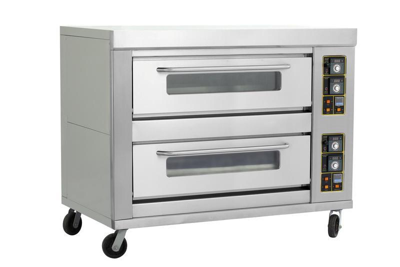 Commercial 2decks 4pans Pastry Food Gas Baking Oven Double Layers Four Trays Bakery Pizza Cake Bread Equipment In Bakeware Sets From Home