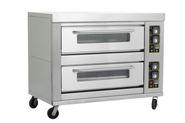 Commercial 2decks 4pans Pastry Food Gas Baking Oven Double Layers Four Trays Bakery