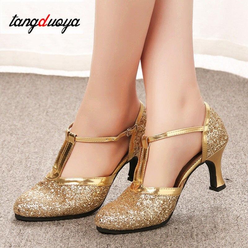 Latin Dance Shoes Woman Gold Silver Shoes Women High Heel Shoes Ballroom Jazz Dancing Shoes For Women Zapatos Plateados Mujer
