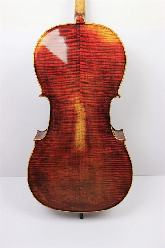 100% Hand Made Antique Style Maestro Strad 4/4 Cello Old Spruce Top Flame Maple Wood Back italy master hand made carved maple violin naturally flamed customized antique violino 4 4 w full accessories tongling brand