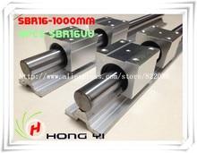 Бесплатная доставка: 2 шт. SBR16 линейных направляющих 1000 мм Линейный вала рельса поддержка + 4 шт. SBR16UU Линейный подшипников блоков