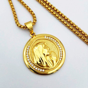 Image 5 - חדש קתולי דתי תכשיטי מרים בתול תליוני זהב צבע נירוסטה מדונה קולייר עבור נשים 2020 שרשרת