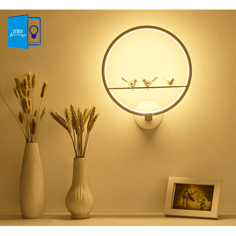 [DBF]Modern LED Wall Light Lamp Ac90-260v Nordic Creative Living Room Bedroom Wall Lighting novelty indoor besides light fixture [ygfeel] 21w led wall light creative bedroom wall lamp indoor living room foyer decoration corridor stair lighting ac90 260v