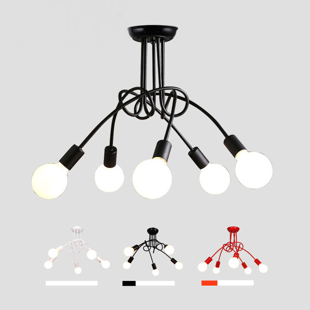 Led Plafonniers Pour Le Salon Luminaria E27 Plafond lampes Luminaires Pour La Maison Éclairage Lamparas De Techo Lustre 3/5 tête