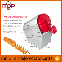 Fast Delivery! Stainless Steel Manual Twisted Potato Cutter,High Quality Spiral Potato Slicer, French Fry Cutting Machine