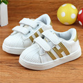 NEW stripe big children's kids Shell head pu leather shoes sneakers for boys girls Toddler & school casual shoes 1~16 years old