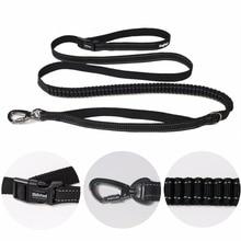 Nueva correa de perro de cintura elástica para caminar para grandes pequeñas Mascotas de perro ajustable de nylon con cuerda de tracción reflexiva