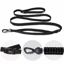New Elastic Waist Dog Leash Untuk Berjalan Berjalan untuk Anjing Kecil Pet Adjustable Nylon Besar Dengan tali traksi Reflektif