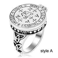 EZEI Sigil Of Archangel Gabriel Enochian Talisman Amulet Angel Tibetan Rings For Men