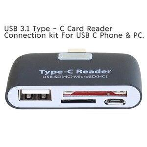 Image 5 - USB C מתאם OTG ממיר SD TF מיקרו SD נמל עם מתנה חינם של טעינת כבל USB C זכר עבור סוג C חכם טלפונים accessoies