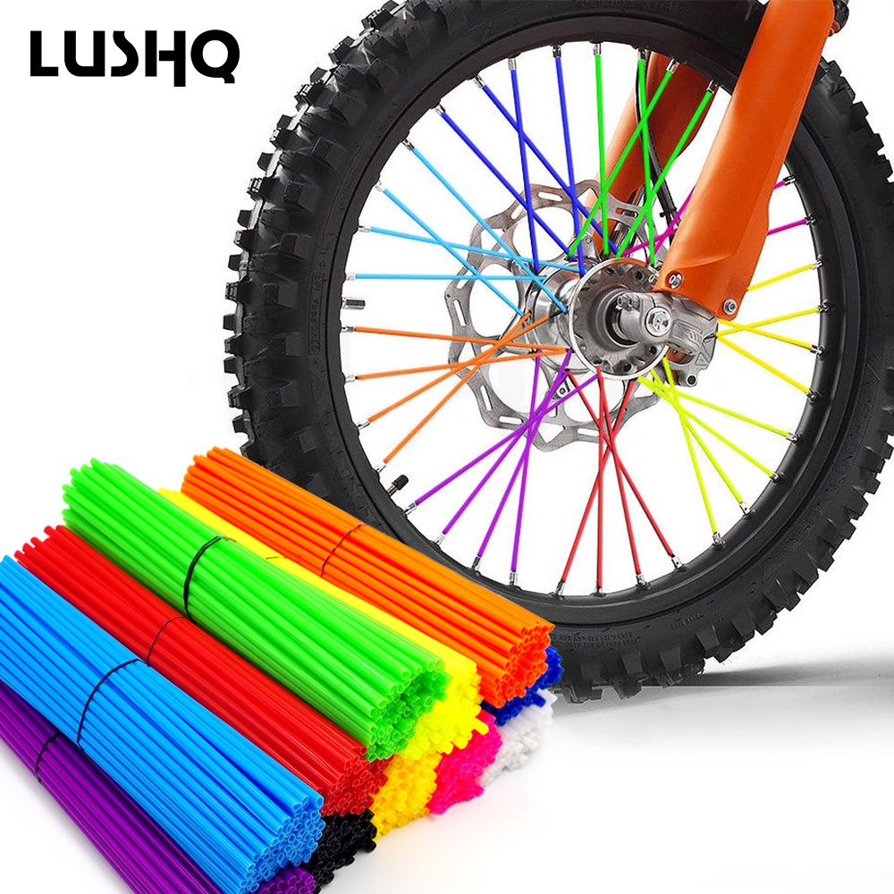 LUSHQ Moto Wheel <font><b>Rims</b></font> Spoke Tube Tire tyre Scooter Bike Electric Motorcycle For ktm exc couvre rayon moto honda crf 250 ktm sx image