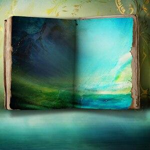 Image 3 - Allenjoy خلفية للصور يطلق النار كتاب الأزرق الغامض العجائب النفط اللوحة خلفيات للصور استوديو لاطلاق النار على الصور