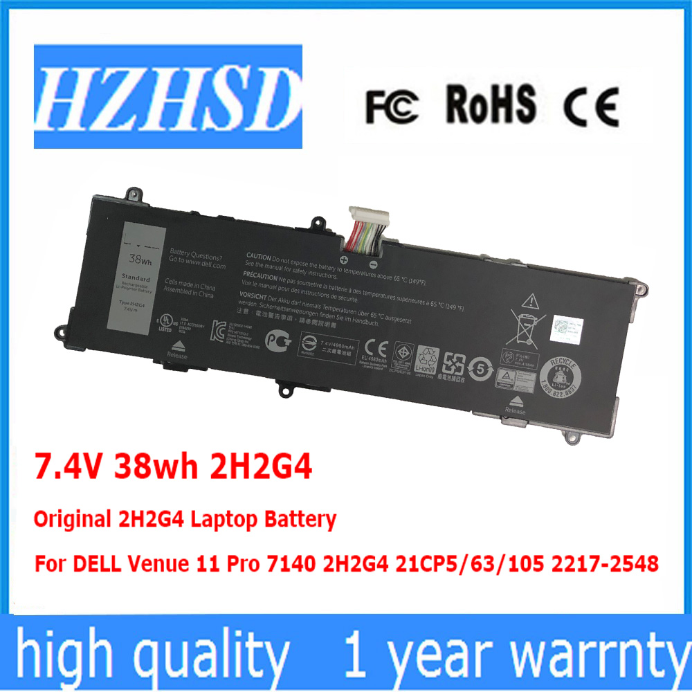 7.4V 38wh 2H2G4 Original 2H2G4 Laptop <font><b>Battery</b></font> For <font><b>DELL</b></font> Venue 11 Pro <font><b>7140</b></font> 21CP5/63/105 2217-2548 image