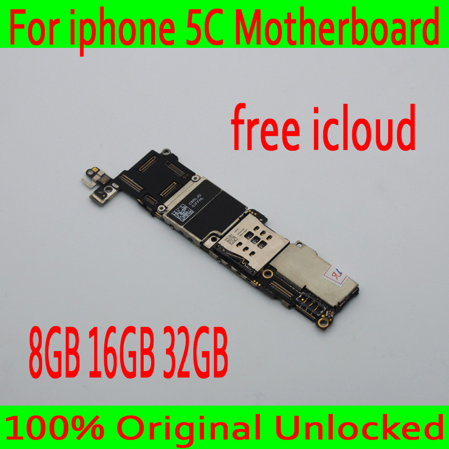 Full unlocked for iphone 5C Motherboard with Clean iCloud 100 Original for iphone 5C Mainboard with