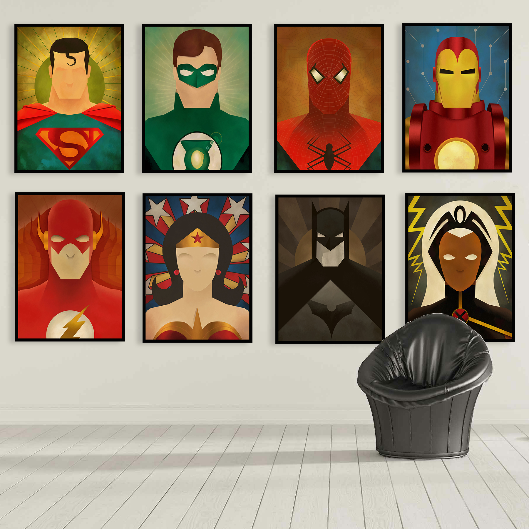 online get cheap decor mens room aliexpress com alibaba group superheroes canvas prints wall posters superman spider man ironman home decoration boy s room gifts 9 styles