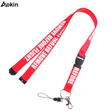 Aokin Remove Before Flight Mobile Phone Straps For iPhone 7 8 6 Plus 5 5S Neck Straps Lanyard Keychain ID Card Holder Hang Rope (China)
