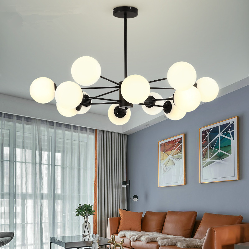 US $164.56 32% OFF|Vintage Retro LED Pendant Lights Milk White Ball Pendant  Lamps dining room fayer Kitchen Light Fixtures Hanglamp luminaire lamp-in  ...