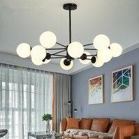 Vintage Retro LED Pendant Lights Milk White Ball Pendant Lamps dining room fayer Kitchen Light Fixtures Hanglamp luminaire lamp