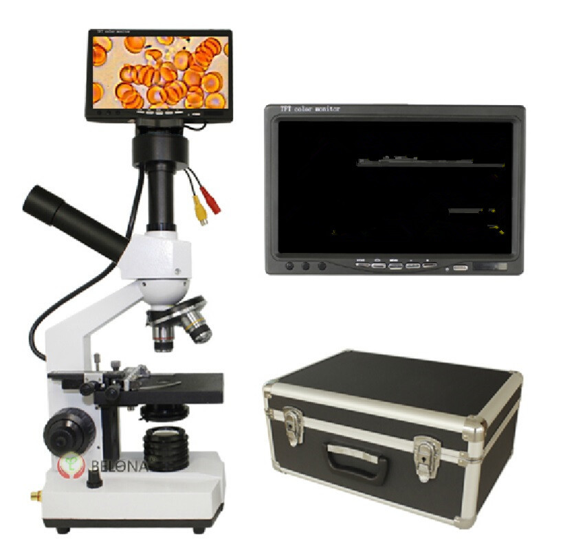 High quality professional digital biological microscope with 7 inch LCD screen for blood detection Mites aquaculture instrument fashion zinc alloy digital wrist watch w led for men black 1 x 2032 included