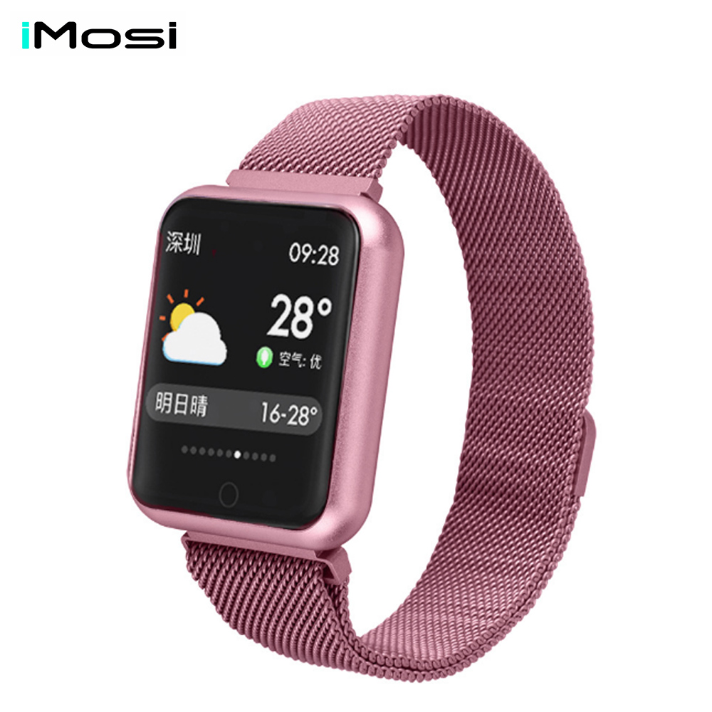 Sports IP68 Smart Watch P68 Fitness Bracelet Activity Tracker Heart Rate Monitor Blood Pressure For Ios Android Apple Iphone X 8