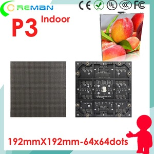 Image 1 - aliexpress freeshipping  full color p3 led module 1r1g1b smd dotmatrix / p3 led display video xxx  rental die casting cabinet p4