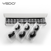 YSDO 30 pairs eyelashes wholesale hand made mink eyelashes natural eyelashes false lashes fluffy lashes makeup 3d mink lashes