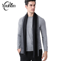 YOUHAN Business Man   Scarf   Luxury Designer Classic Winter   Scarves   Cashmere   Scarf   Soft Tassel Collar Shawl   Wrap   Drop Shipping