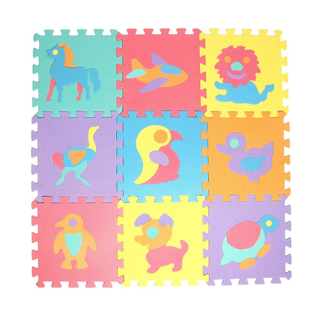 10Pcs Animal Pattern Foam Puzzle Kids Rug Carpet Split Joint EVA Baby Play Mat Indoor Soft Activity Puzzle Mats цена 2017