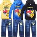 children pokemon go pikachu hoodies and kids sweatshirts sets t shirt for girls boy clothes tee tshirt clothing costume t-shirt