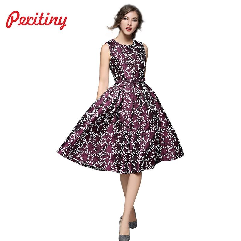 a0e02651243 Peritiny Elegant Vintage Dresses Women Clothing Floral Embroidery Bodycon  Dress O Neck Purple Spaghetti Stripe Embroidered