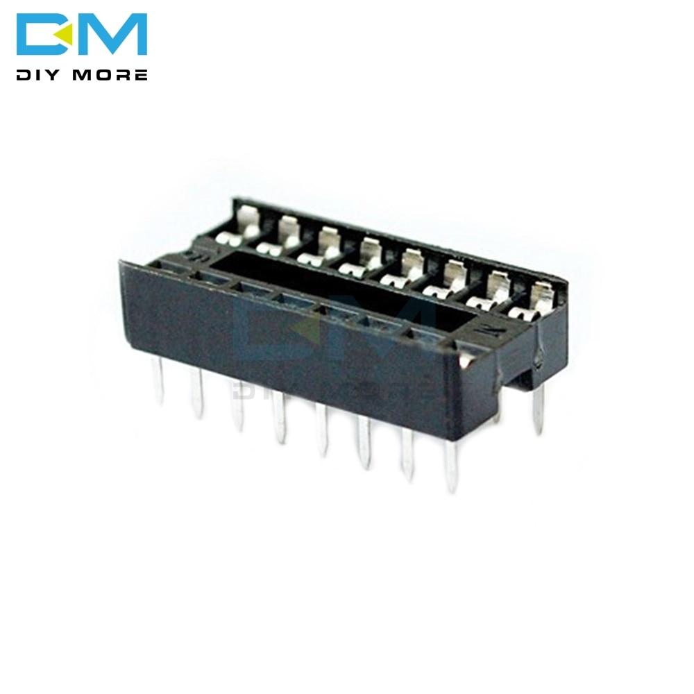 50PCS 16pin 16-Pins 16 Pins 16P DIP IC Sockets Adaptor Solder Type Socket 100% Original DIY