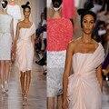 Vestido De Noiva Sem Alças Vestidos de Festa 2016 Novo Estilo Moda Mulheres Chiffon Coral Bridesmaids Vestido Transformador