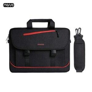 Image 1 - MOSISO Laptop omuzdan askili çanta 13.3 Inç su geçirmez defter macbook çantası Hava 13 Kılıf Yeni Pro 13 Bilgisayar Çanta Evrak Çantası Çanta