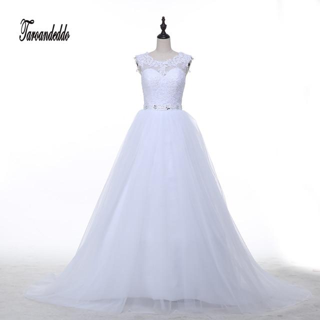 Spitze Applique Mieder Hochzeit Kleid Crystals Gürtel Weiß Tüll ...
