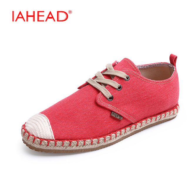 Espadrilles Mens Canvas Shoes Casual Sneakers Flat Deck Shoes Breathable Comfort Work (Color : C Size : 43)