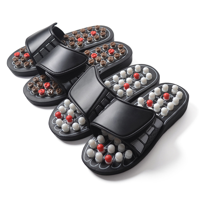2019 New Acupoint Massage Slippers Sandal For Men Feet Chinese Acupressure Therapy Medical Rotating Foot Massager Shoes Unisex(China)
