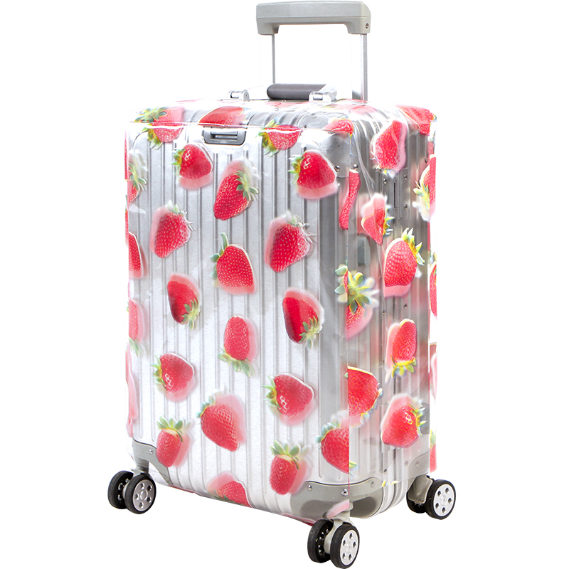 Transparent Strawberry Waterproof Dust Cover 20-28 Inch PVC Luggage Protective Cover Travel Suitcase Accessories Products Supply